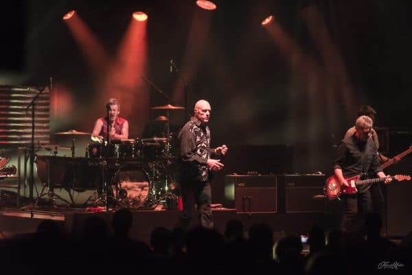 Midnight Oil play Place Des Art in Montreal