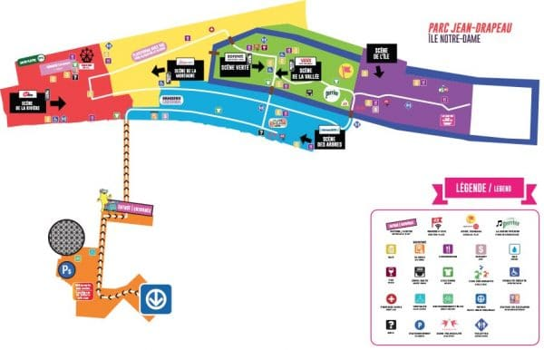 Osheaga Map