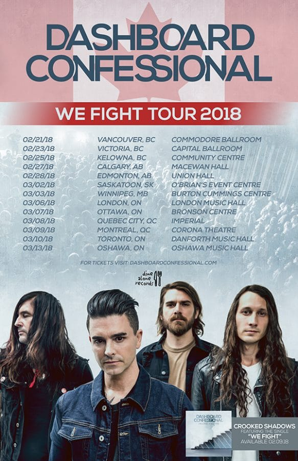 dashboard confessional canadian tour 2018