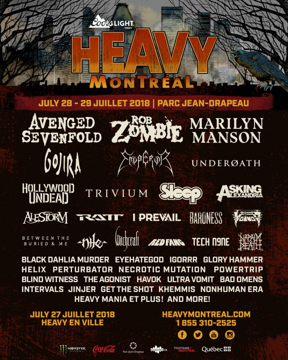 Heavy Montreal 2018 poster