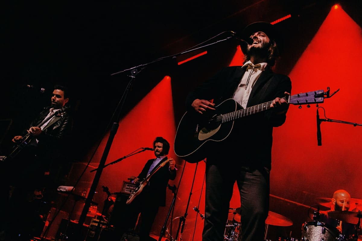 Lord Huron on stage at Mtelus in Montreal in February 2019