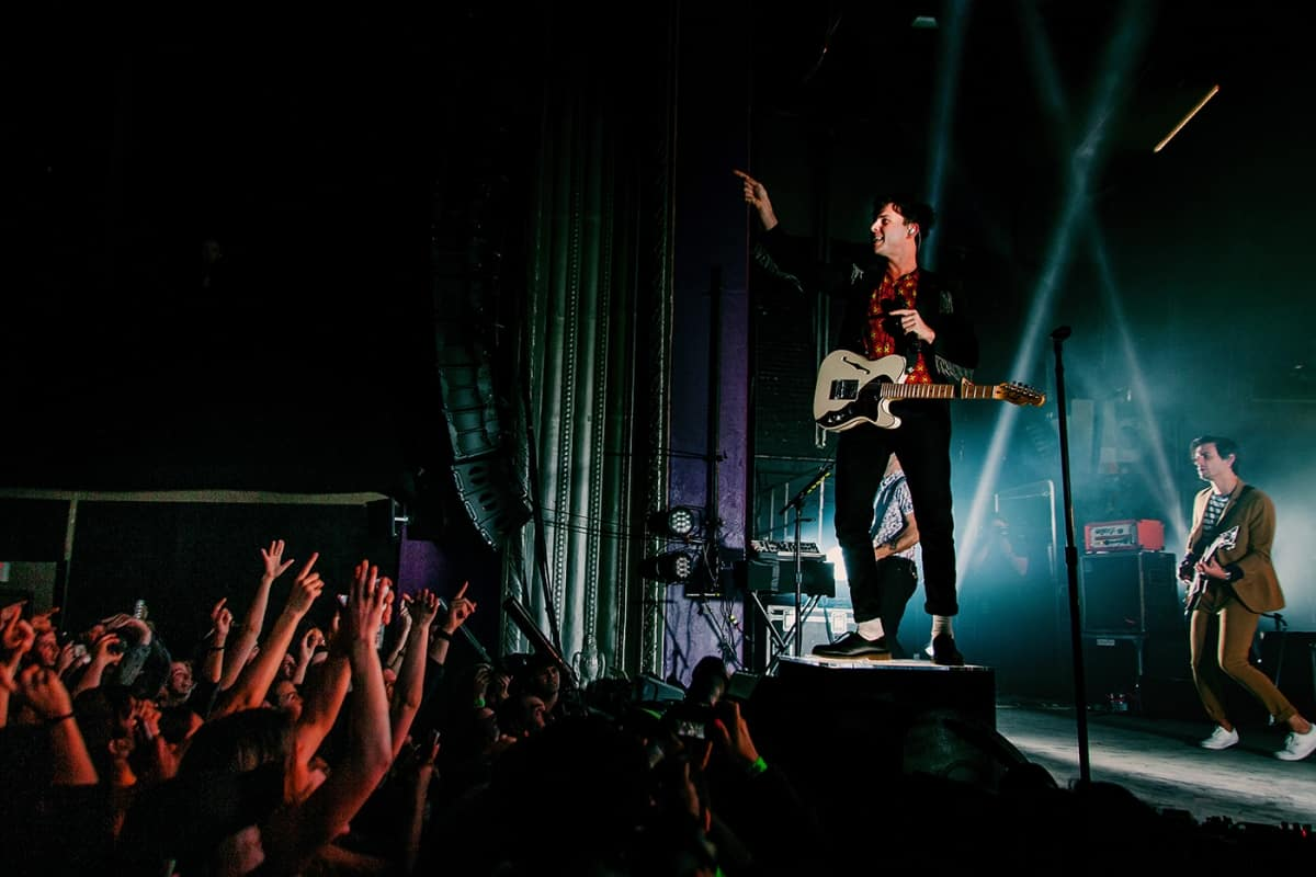 Arkells live on stage at Mtelus in Montreal in February 2019