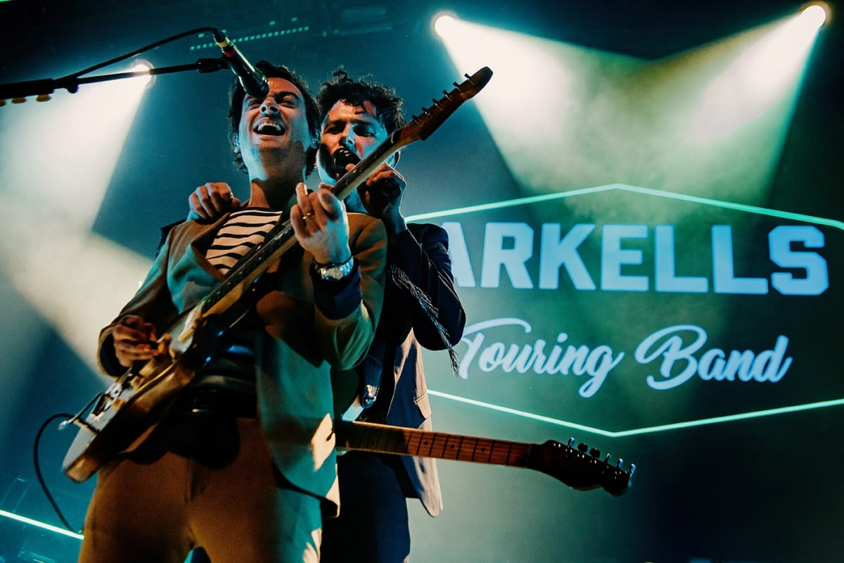 The Arkells on stage at Mtelus in Montreal in February 2019