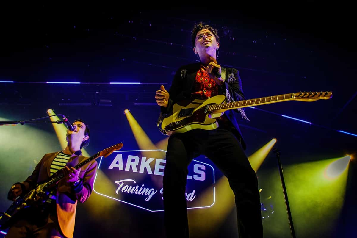 Arkells on stage at Mtelus in Montreal in February 2019