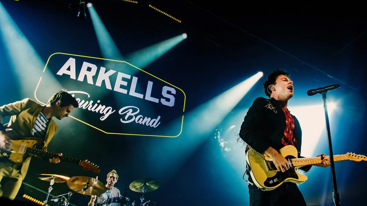 Arkells on stage at Mtelus in Montreal, Canada in February 2019