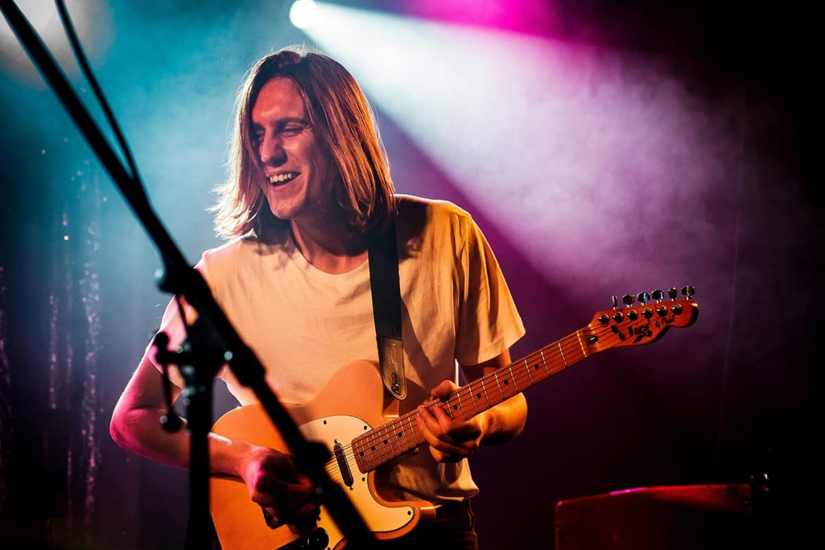 Parcels guitarist at Theatre Fairmount in Montreal