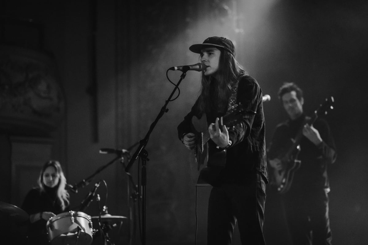 Andy Shauf on stage in Montreal