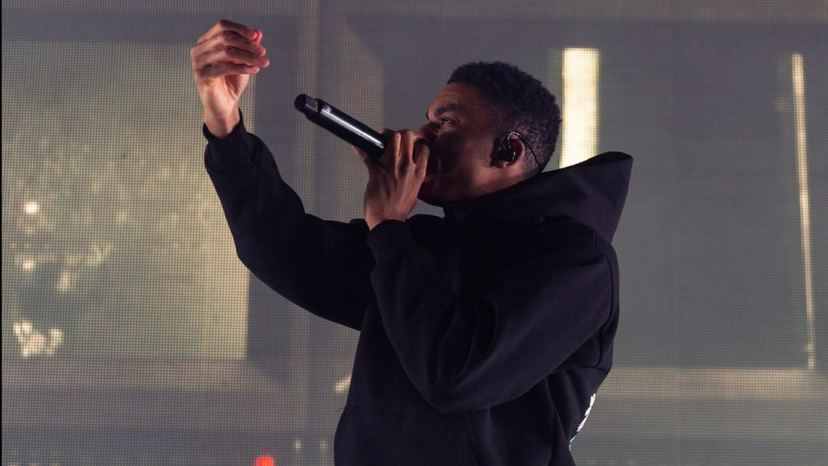 vince staples on stage at mtelus in Montreal