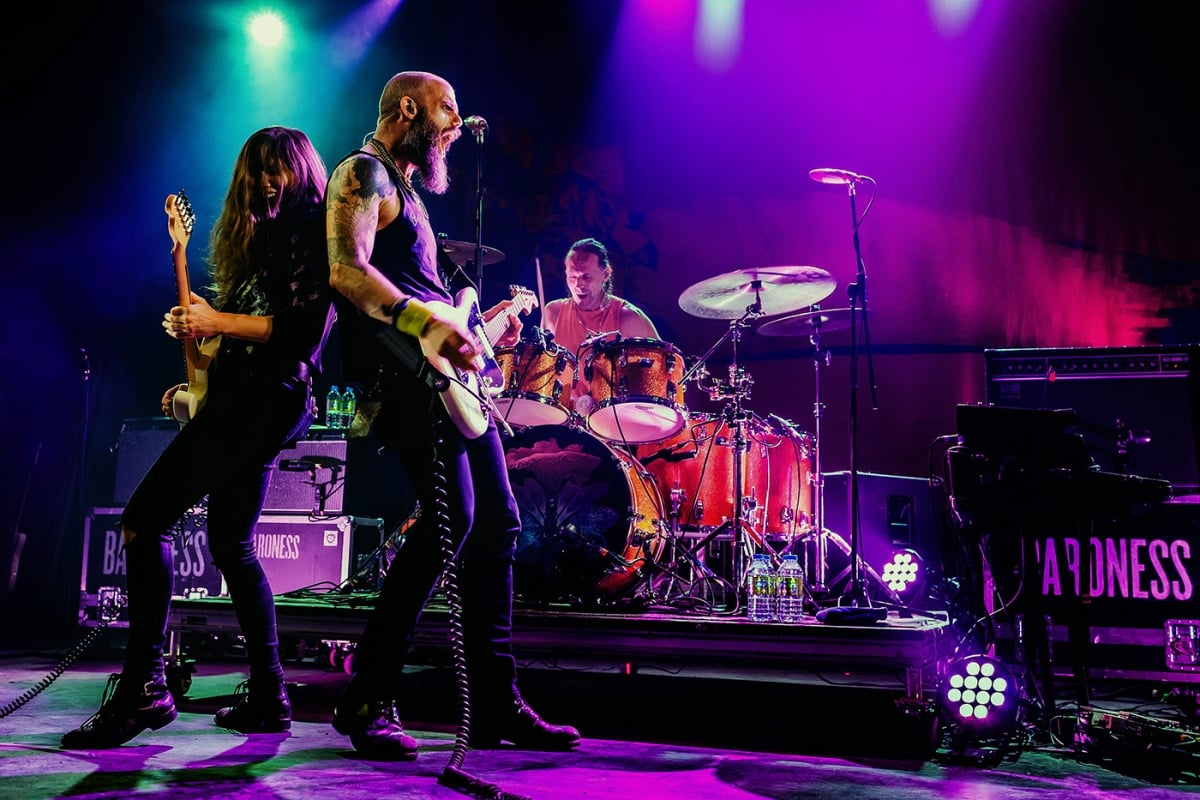 Baroness on stage at the Corona Theatre