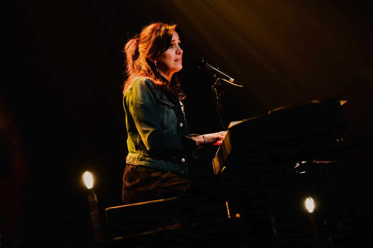 Chantal Kreviazuk of Moon vs Sun on stage at Montreal's Corona Theatre