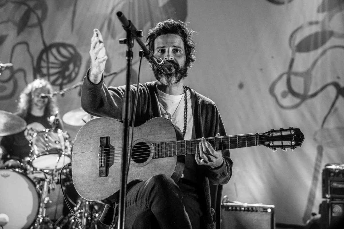 Devendra Banhart on stage at Corona Theatre in Montreal, Canada