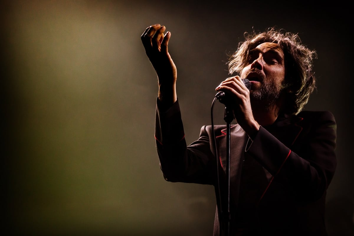 Patrick Watson on stage at Mtelus in Montreal, Canada